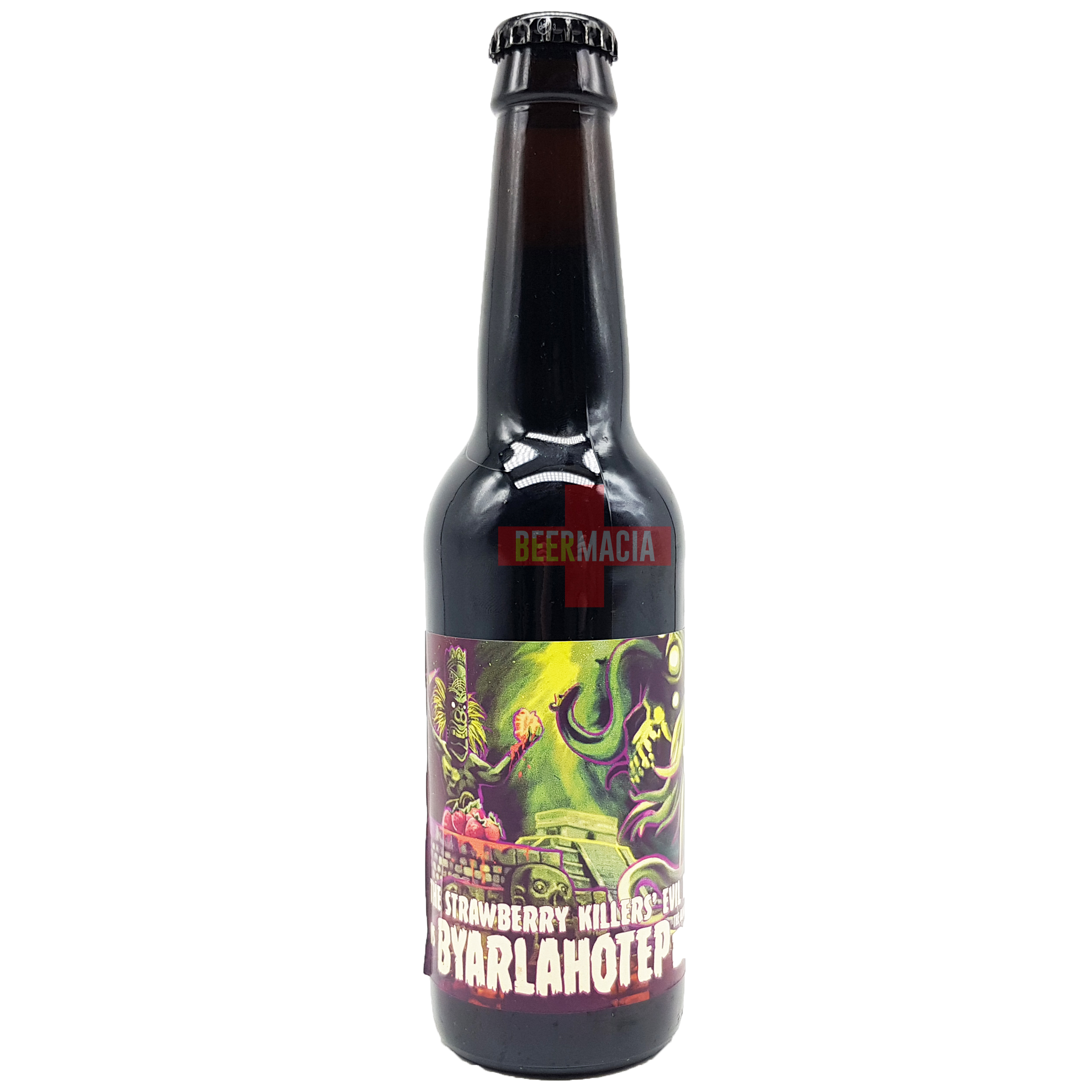 Yria Cervezas / Reptilian Brewery - The Strawberry Killers' Evil Tiki Cult Vs Byarlahotep The Almighty Dark God Of Beer 33cl